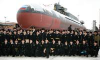 Экипаж корабля под началом командира Алексея Коваленко «запускает» в море уже третий БДРМ на «Звездочке». Фото В. Капустина