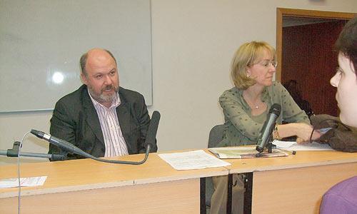 Президент  компании развития общественных связей Сергей Зверев и Ирина Ясина. Фото автора