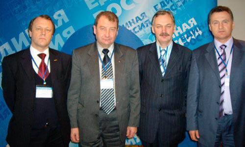 Представители Северодвинска с  руководителем кадровой службы ОСК, в прошлом — командиром дивизии подводных лодок Северного флота Иваном Положим (справа).