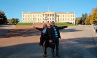 Поездка удалась! С коллегой из Мурманска. Фото из архива И. Анисимова