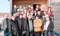 Илья Михальчук с редакторами газет области. Северодвинск, 11 апреля. Фото В. Зыкина