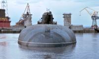 АПЛ К-119 «Воронеж» в наливном бассейне док-камеры.  Фото В. Ковпака