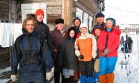 Участники экспедиции в селе Куя. Фото А. Шаларева