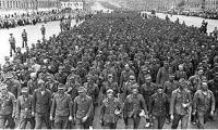 Июль 1944 года. Пленные немцы на улицах Минска.