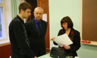 У студентов и ректора Севмашвтуза Сергея Горина немало вопросов к заместителю губернатора. Фото В. Бербенца