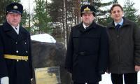 Капитан 1-го ранга Андриенко, контр-адмирал Ткачев и депутат Кузьменков. Фото из архива части