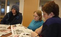 Летучка в редакции гезеты «Finnmarken».