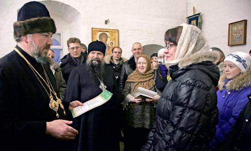 Победителей регионального этапа приветствовал епископ Архангельский и Холмогорский Тихон. Фото из личного архива