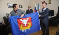 Флаг Нойштадта — Северодвинску. Фото Е. Легостаевой