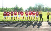 Ветераны «Спартака» перед выходом на поле. Фото автора