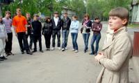 Последние наставления от председателя организации Татьяны Хромцовой. Фото В. Бербенца