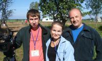 Вместе с телеоператором «Коми-РТК» Денисом Будриным и военным корреспондентом Николаем Ивановым. Фото автора