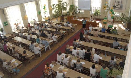Библиотекари сели за парты.  Фото С. Диановой