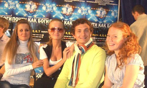 Участники мюзикла (слева направо) Мария Богданова, Анна Япрынцева, Николай Цыб, Анна Сватковская. Фото Г. Чарупы