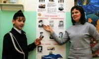 Н.Л. Новожилова со своим учеником из класса юнг В. Панкратовым.