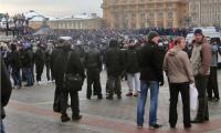 Взгляд из толпы: от наплыва бунтующих Манежную площадь было не видно. Фото автора