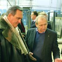 Э.А. Белокоровин (слева) и О.Г. Максименко. Фото В. Журавлёва