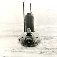АПЛ К-149 в Белом море на ходовых испытаниях. Фото из фонда музея