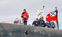АПЛ «Дмитрий Донской» уходит на ракетные стрельбы. Фото В. Бербенца