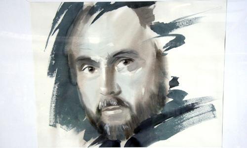 Ю. Ломков. Автопортрет. Фоторепродукция В. Бербенца