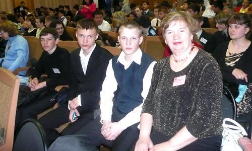 Валентина Васильевна Паршина и её ученики. Фото из личного архива