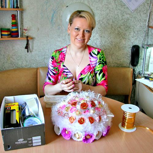 К нашему приезду Ольга «испекла» такой вот торт.